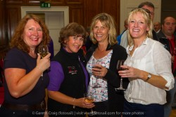 (l to r) Jan Rimmer, Sue Carr, and Doris Hughes (SV Legless from Liverpool YC) with Judy Preece (SV Courageous, Liverpool YC) at the civic reception in Dún Laoghaire Town Hall to launch the Volvo Dún Laoghaire Regatta 2015.