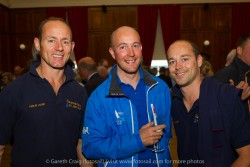 (l to r) John Barrett, Richard Sharp and Paul Carine at the civic reception in Dún Laoghaire Town Hall to launch the Volvo Dún Laoghaire Regatta 2015.