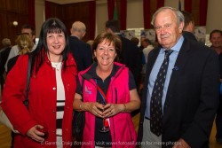 Sarah-Jane Leonard, Cationa McNally, and Henry Leonard at the civic reception in Dún Laoghaire Town Hall to launch the Volvo Dún Laoghaire Regatta 2015.