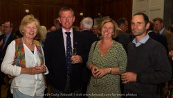 (l to r) Diana Ferguson, Frank O'Beirne (Rear Commodore Sailing, RStGYC), Judy O'Beirne, and Tim Ryan (Operations Manager, Dún Laoghaire Harbour Company) at the civic reception in Dún Laoghaire Town Hall to launch the Volvo Dún Laoghaire Regatta 2015.