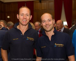 (l to r) John Barrett and Paul Carine (SV Eauvation from the Isle of Maan) at the civic reception in Dún Laoghaire Town Hall to launch the Volvo Dún Laoghaire Regatta 2015.
