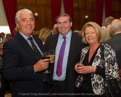 (l to r) Paul Sherry (Vice Commodore, RIYC), Councillor Barry Ward, and Eleanor Connolly (House Manager, RStGYC) at the civic reception in Dún Laoghaire Town Hall to launch the Volvo Dún Laoghaire Regatta 2015.