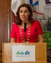 An Leas Cathaoirleach of Dún Laoghaire Rathdown County Council Councillor Josepha Madigan at the civic reception in Dún Laoghaire Town Hall to launch the Volvo Dún Laoghaire Regatta 2015.