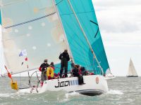 The J109 'Jedi' during the Round Ireland Race 2012