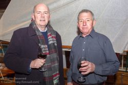 (l to r) Derek Gill and Denis Nolan attending the official launch in the National Maritime Museum of Ireland.
