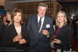 (l to r) Helen O'Dowd, Don O'Dowd, and Patricia Greene (Volvo Cars Ireland) attending the official launch in the National Maritime Museum of Ireland.