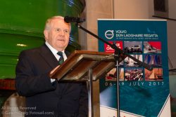 David Lovegrove (President, Irish Sailing Association) addressing the official launch of Volvo Dún Laoghaire Regatta 2017 in the National Maritime Museum of Ireland.