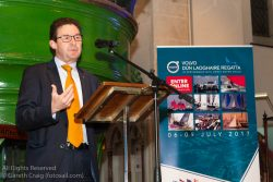 David Thomas (Managing Director, Volvo Cars Ireland) addressing the official launch in the National Maritime Museum of Ireland.