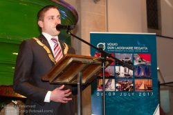 Councillor Cormac Devlin (An Cathaoirleach, Dún Laoghaire-Rathdown County Council) addressing the official launch in the National Maritime Museum of Ireland.