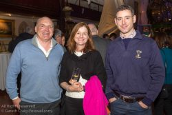 (l to r) Chris Doorly (Flying Fifteen Class), Susan Spain, and Ger Ryan (Chairperson, St Michael's Rowing Club) attending the official launch in the National Maritime Museum of Ireland.