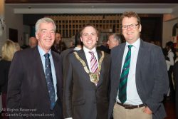 (l to r) Brian Craig (former Chairperson, Volvo Dún Laoghaire Regatta), Councillor Cormac Devlin (An Cathaoirleach, Dún Laoghaire-Rathdown County Council), and Harry Herman (CEO, the Irish Sailing Association) attending the official launch in the National Maritime Museum of Ireland.