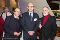 (l to r) W M Nixon (Afloat Magazine), Martin McCarthy, and Vincent Delany attending the official launch in the National Maritime Museum of Ireland.
