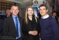 (l to r) John Ryan (Spirit Motor Group), Melanie McCoust, and James O'Callaghan (Performance Director, Irish Sailing Association ) attending the official launch in the National Maritime Museum of Ireland.
