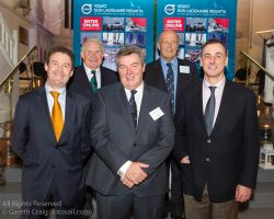 (l to r) David Thomas (Managing Director, Volvo Cars Ireland), David Lovegrove (President, Irish Sailing Association), Don O'Dowd, Tim Goodbody (Chairperson, Volvo Dún Laoghaire Regatta), and Alan Moore (Spirit Motor Groung attending the official launch of Volvo Dún Laoghaire Regatta 2017 in the National Maritime Museum of Ireland.