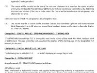 Amendments to Sailing Instructions 1-11