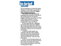 Irish Independent :: In Brief – Sailing