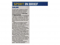 Irish Independent Sport :: In Brief – Sailing