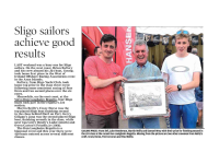 Sligo Weekender :: Sligo Sailors Achieve Good Results
