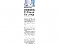 Sunday Mirror :: Sunny Skies To Draw Out The Crowds
