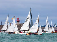Dun Laoghaire, Co Dublin, 12 July 2019: One-designs including mixed Sportsboat and Mermaids at the Volvo Dun Laoghaire Regatta where a record entry of more than 500 boats has entered.  Photograph:  David Branigan/Oceansport  The 8th Volvo Dun Laoghaire Regatta got underway today, Thursday 11th July. The biennial four-day series is IrelandÕs biggest sailing event as the four waterfront yacht clubs have come together for this sailing extravaganza; Dun Laoghaire Motor Yacht Club, National Yacht Club, Royal Irish Yacht Club and Royal St. George Yacht Club. Over 2,500 sailors have descended on the waterfront as 500 boats across 34 classes compete out on Dublin Bay. The Volvo Dun Laoghaire Regatta takes place until Sunday 14th July. For more information see www.dlregatta.org.