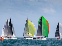 Dun Laoghaire, Co Dublin, 11 July 2019:  The coastal fleet gets racing underway on the opening day of the Volvo Dun Laoghaire Regatta that has attracted a record 500+ boat entry this year (details below) Photograph:  David Branigan/Oceansport  The 8th Volvo Dun Laoghaire Regatta got underway today, Thursday 11th July. The biennial four-day series is IrelandÕs biggest sailing event as the four waterfront yacht clubs have come together for this sailing extravaganza; Dun Laoghaire Motor Yacht Club, National Yacht Club, Royal Irish Yacht Club and Royal St. George Yacht Club. Over 2,500 sailors have descended on the waterfront as 500 boats across 34 classes compete out on Dublin Bay. The Volvo Dun Laoghaire Regatta takes place until Sunday 14th July. For more information see www.dlregatta.org. Repro free for editorial use with credit byline